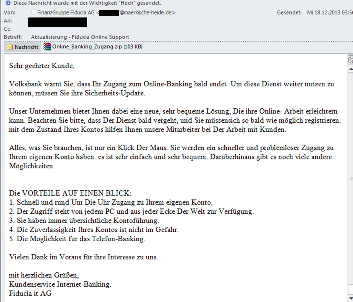 spam telekom rechnung neue phishing mail spam welle. Black Bedroom Furniture Sets. Home Design Ideas