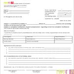 Vorlage Reisemängel - Anzeige ENGLISCHE VERSION