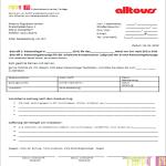 Vorlage Beschwerdebrief an Reiseveranstalter Alltours