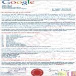 Angebliches Google Informationsschreiben